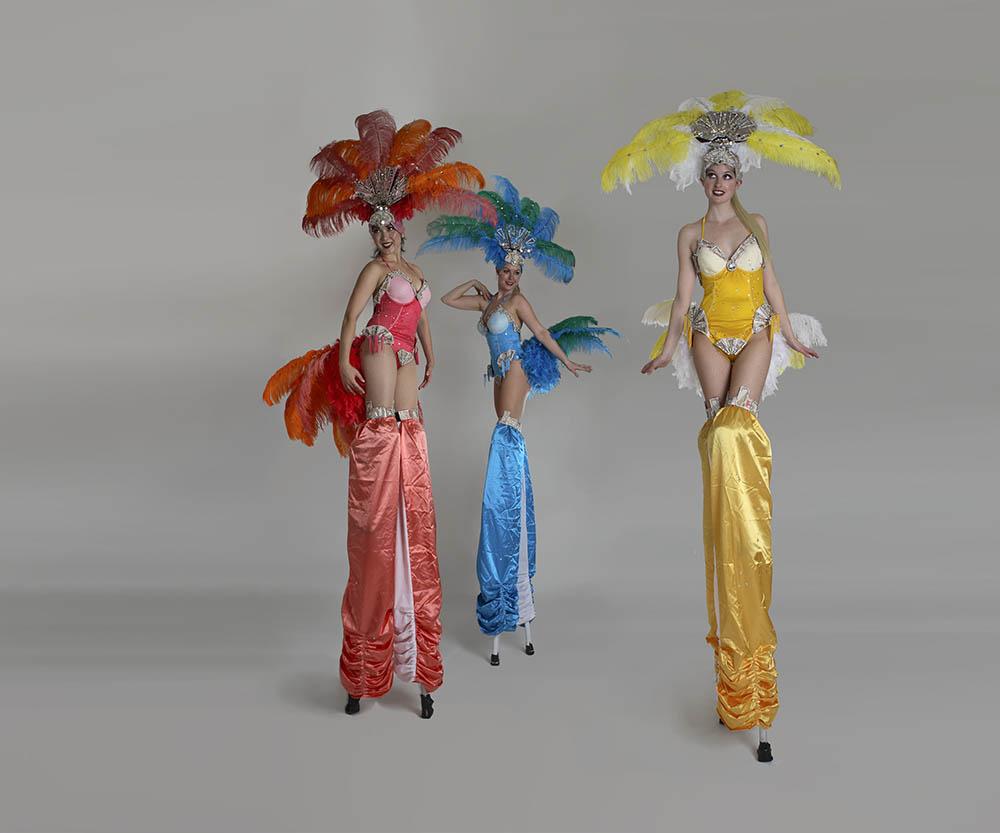 Electric Showgirls, stilt performance, Divine Company