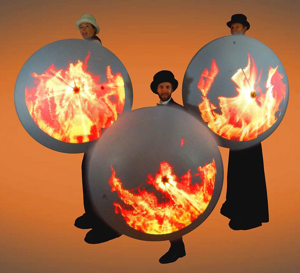 Glow Umbrellas - Fire