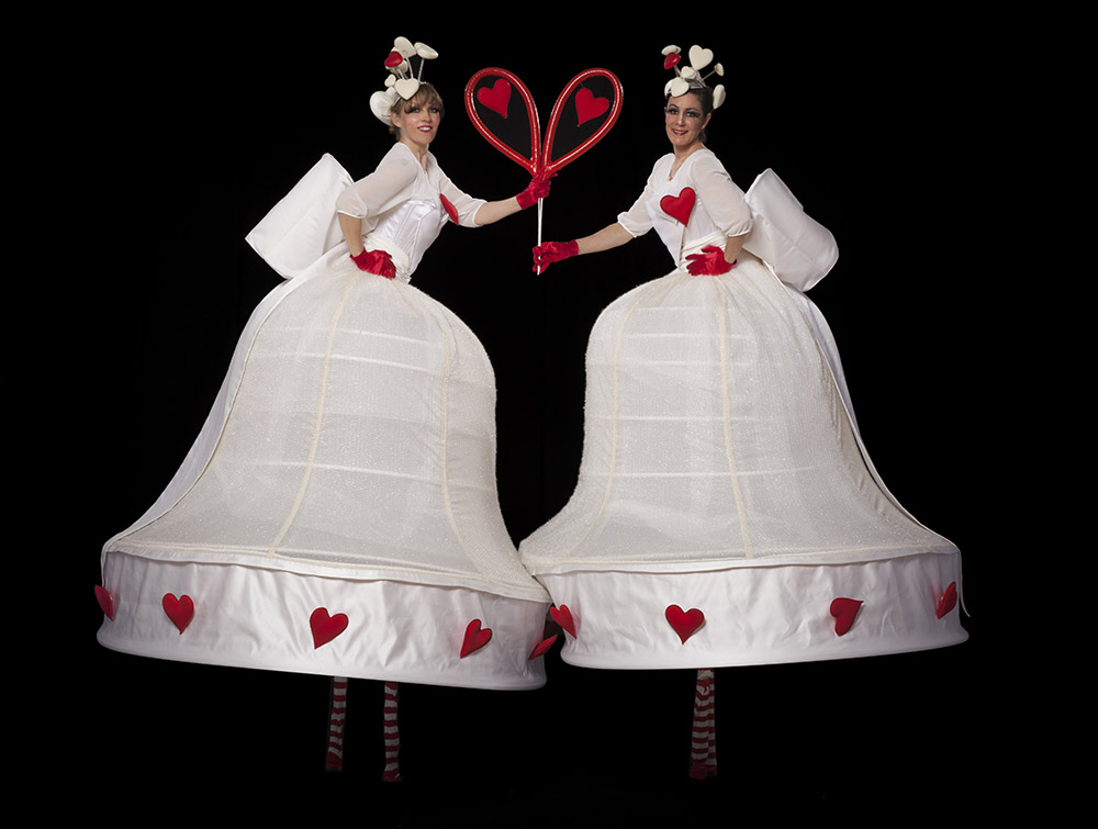 LB-199 White Love Belles with red hearts photo Eric Richmond