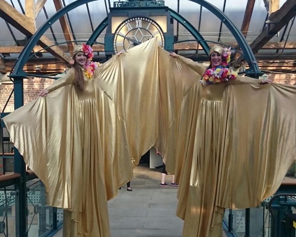 Optioscopes in gold, stilt performance