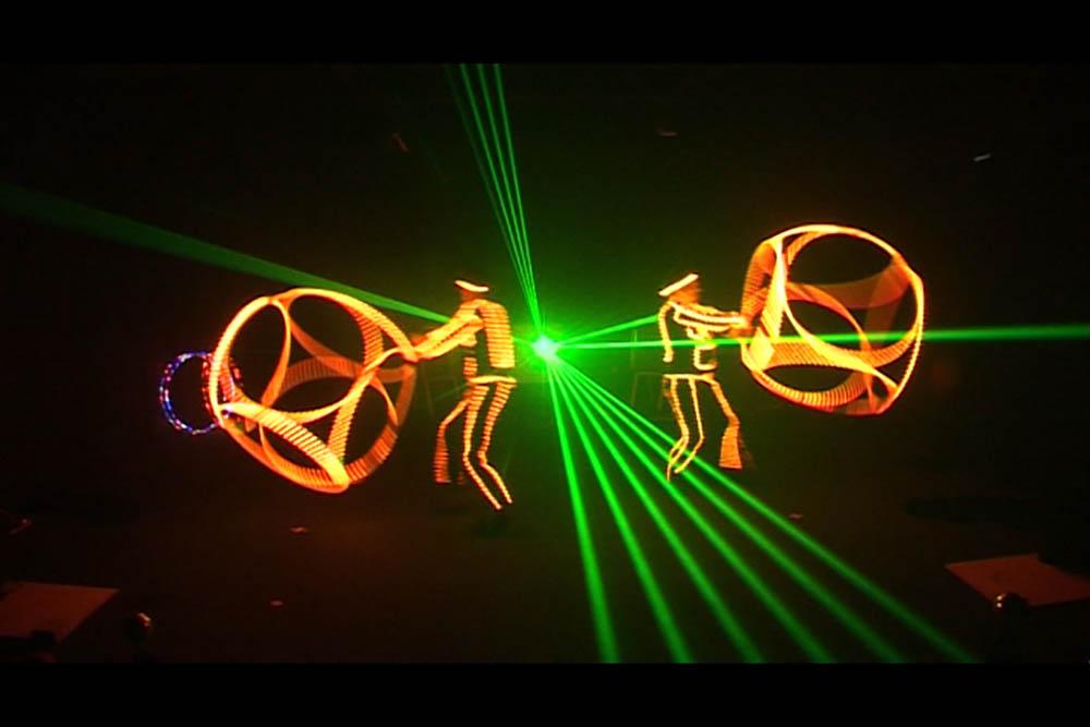 Photon Glow Show live - Hoopcubes