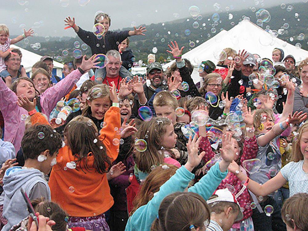 Bubbles at festival
