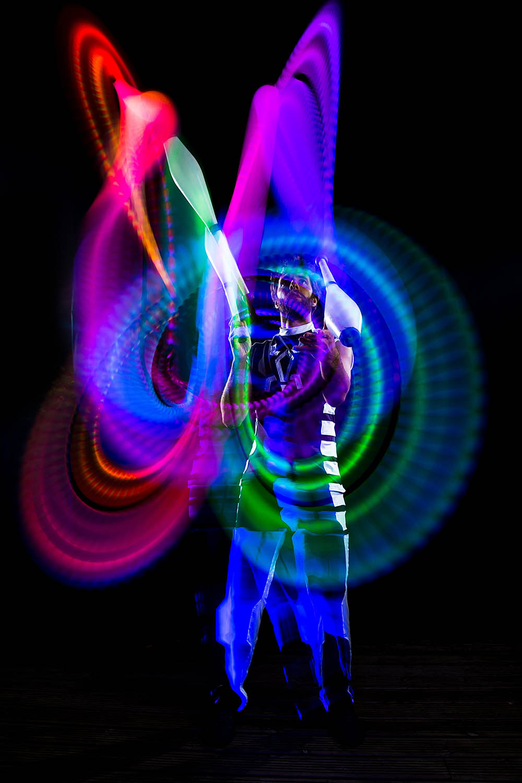 Glow performers