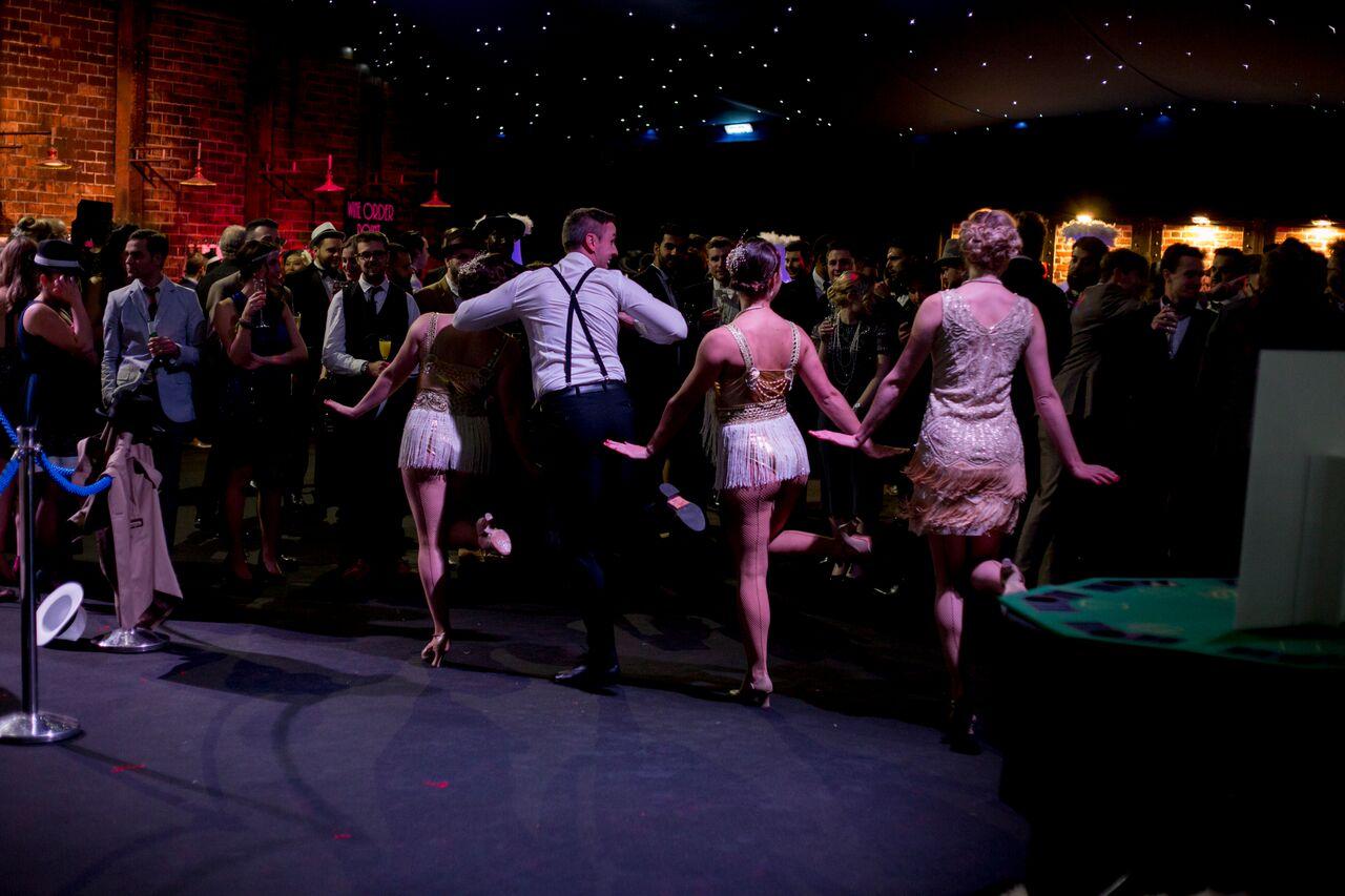 flashmob dance performers gatsby theme event
