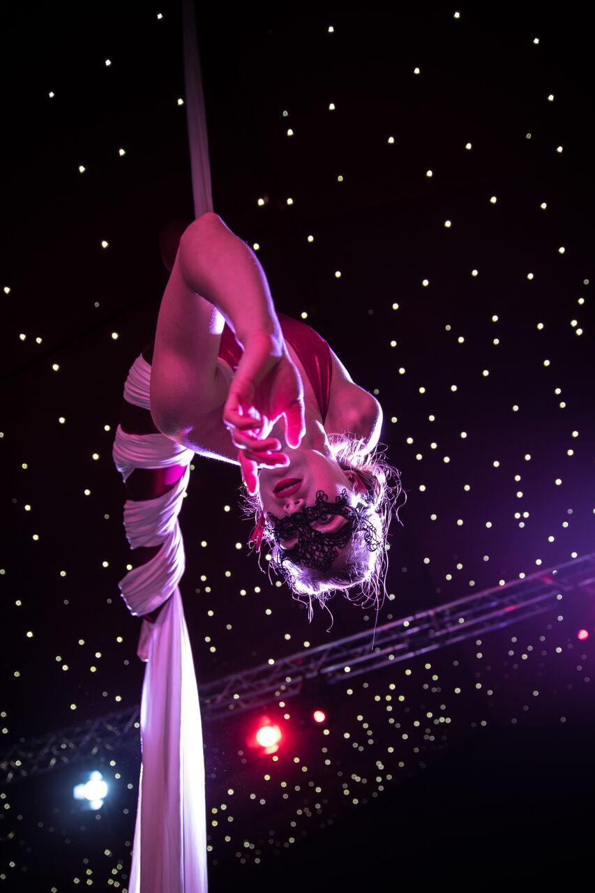 Masqueradeaerial mask performer events silks
