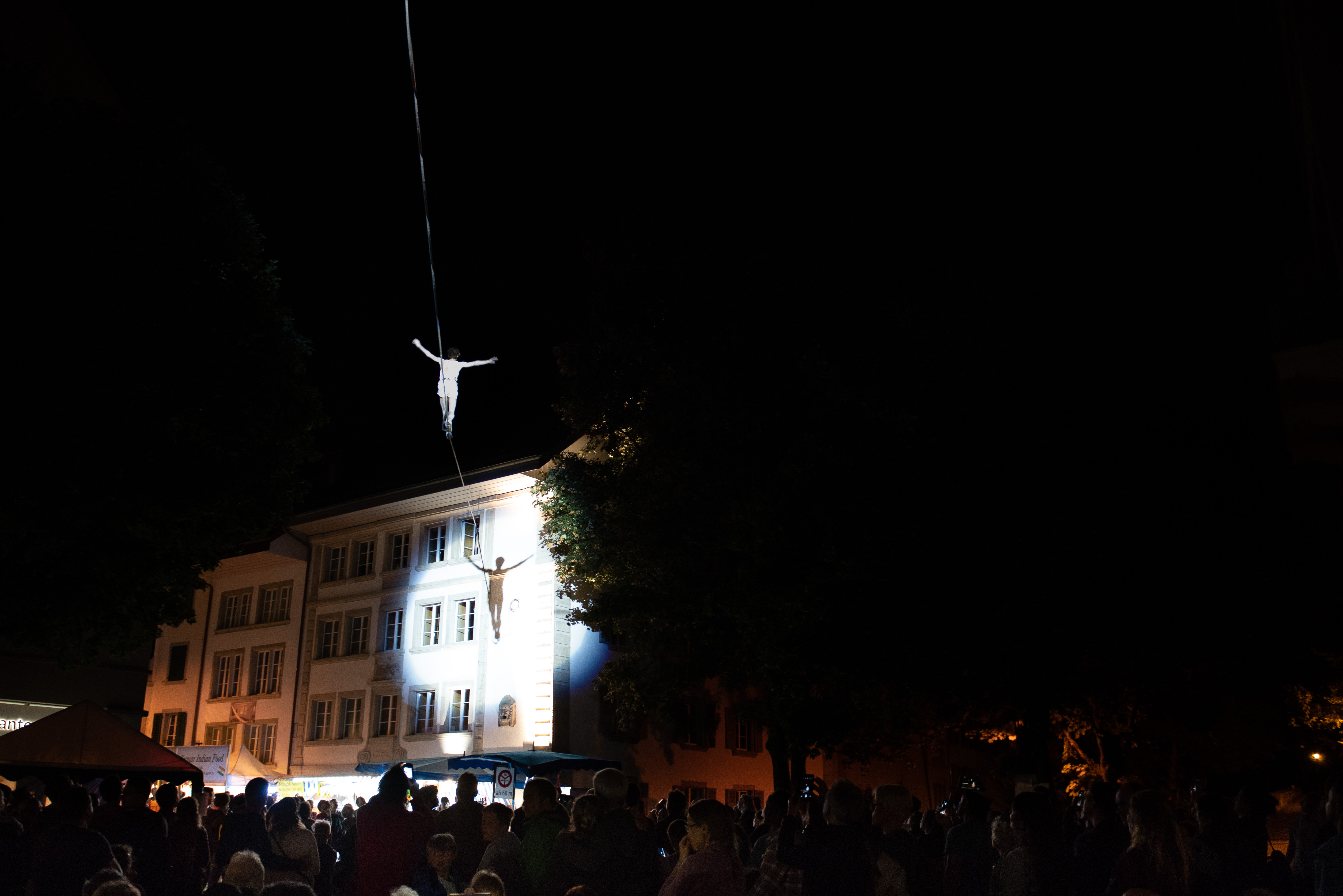 aerial, halloween, cage, performer, artist, street, theatre, tightrope