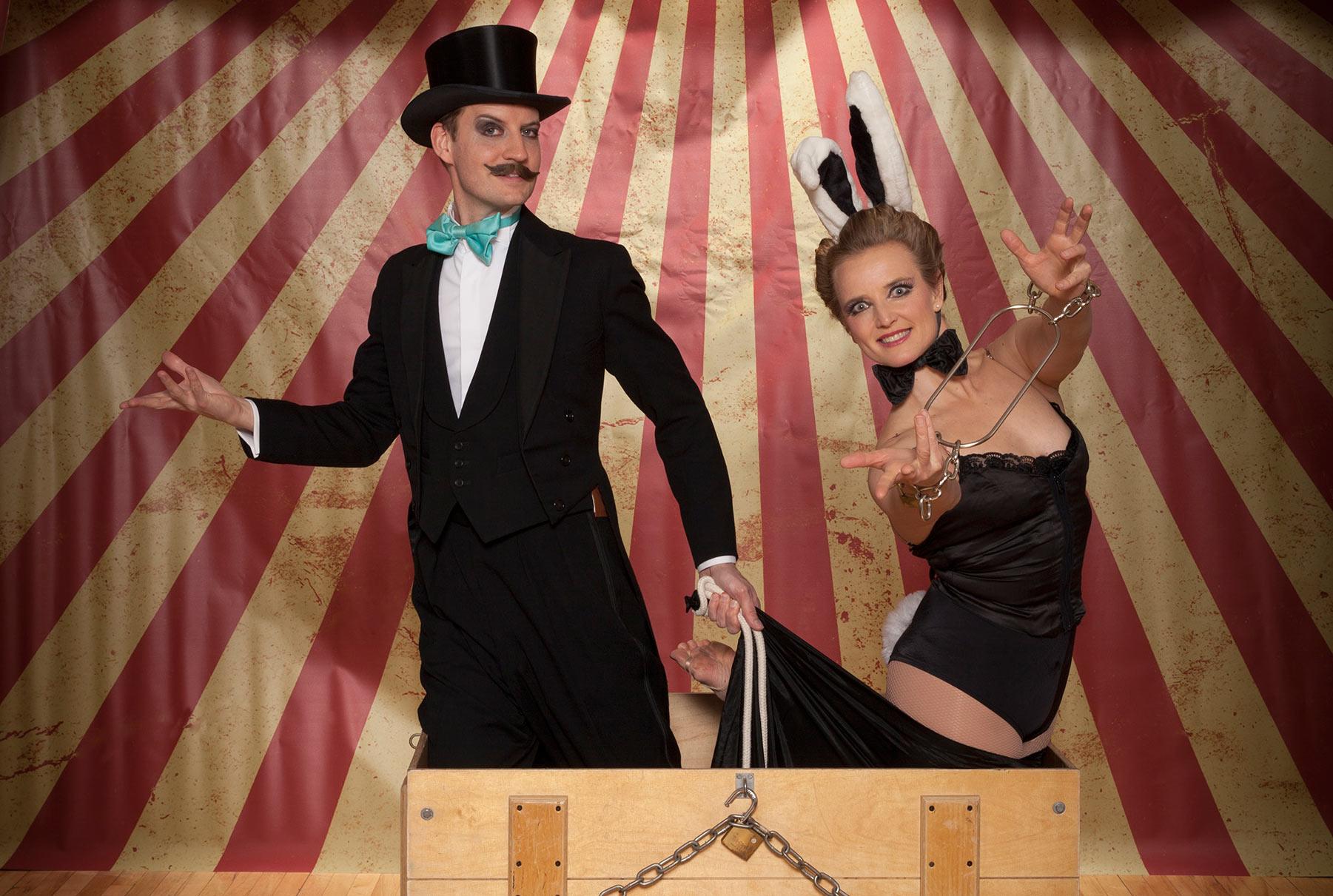 magic, show, assistant, rabbit, comedy, cabaret